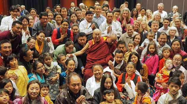 The Dalai Lama in Sweden