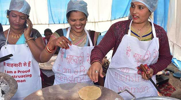 Menstruating Women organise Period Feast in Delhi