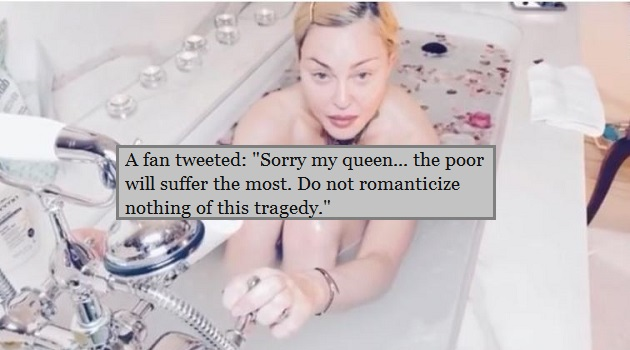 Madonhna in bathtub