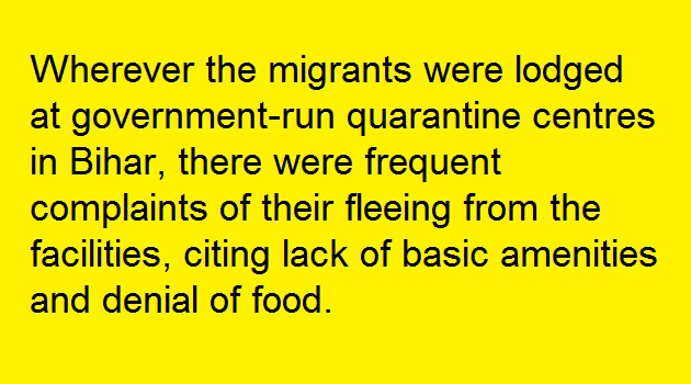 Migrant labourers had no choice