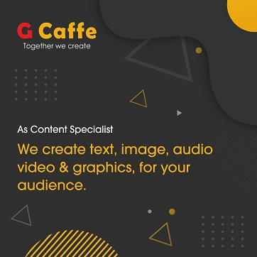 G Caffe creative agency in National Capital Region NCR Delhi, Noida, Ghaziabad, Gurugram and Gurgaon